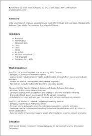 Resume Templates: Entry Level Network Engineer