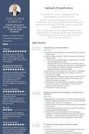 Database Developer Resume Template Fascinating Architecture Resume Format Real CV Examples Resume Samples