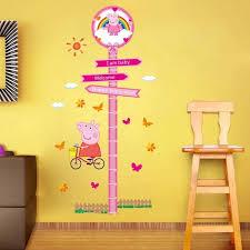 Little Peppa Pig Height Chart Wall Sticker Design Peppa
