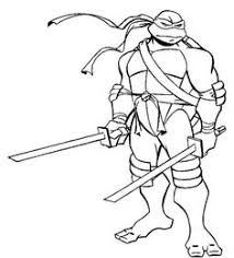 Small Picture Katana Blades is Leonardo Weapon of Choice Coloring Page Free