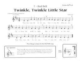 Twinkle Twinkle Little Star Recorder Finger Chart Recorder For Beginners Red Belt Twinkle Twinkle Little