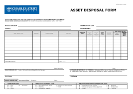 Disposal Form Template 26 Images Of Career And Technology Fixed ...