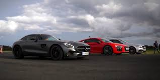 2016 Audi R8 V10 Plus Thrashes AMG GT S and C63 S in Drag Race ...