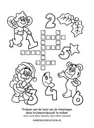 Kleurplaat Kruiswoordpuzzel Kerstengel Spelletjes