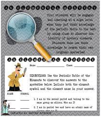Fun elemental mystery activity element periodic table atom jr high ...