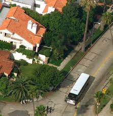 file an aerial view shows nicole brown simpson s condo top with two chimneys