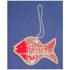 handicraft ornaments with fish in