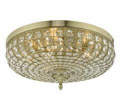 dar asmara 5 lamp flush mount crystal