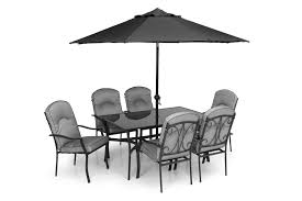 garden table 6 chairs. quality black grey padded 6 seater 8 piece metal garden dining set -table chairs table