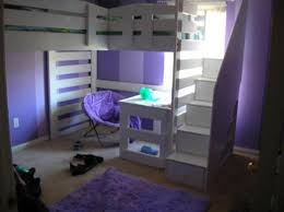 bunk beds with stairs. Image Of: Purple Bunk Beds With Stairs And Desk