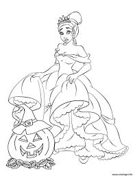 Coloriage Princesse Disney Halloween Dessin
