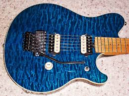 gilaguitars.com & ... quilted maple top I've seen in trans blue, perfect maple neck, designed  by EVH, and in near mint condition. One of my favorite quilt tops of all  time. Adamdwight.com