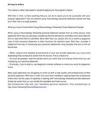 calam atilde copy o how to write a winning rheumatology fellowship personal how to write a winning rheumatology fellowship personal statement