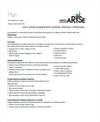 Ideas Collection School Project Proposal Templates Free Sample