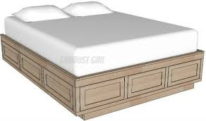queen platform bed frame with drawers. Exellent With Queen Platform Storage Bed Woodworking Plans Inside Frame With Drawers
