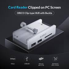 <b>ORICO</b> Clip Design USB 3.0 HUB with Card Reader <b>Aluminum Alloy</b> ...