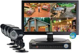 Complete security camera system with monitor ECO 8 channel DVR LED series