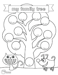 Family Tree Templates Kids Printable Family Tree Template For Kids Callatishigh Info