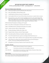 Music Resume Sample Autobiography Outline Template For Middle School