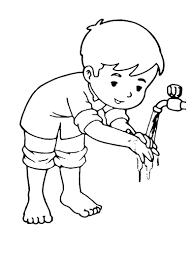Membaca basmalah sambil mencuci kedua tangan sampai pergelangan tangan sampai bersih. Mewarnai Gambar Urutan Wudhu Sukagambarku