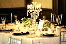 table chandelier centerpiece centerpieces