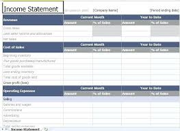 excel income statement profit and loss statement template excel income statement template
