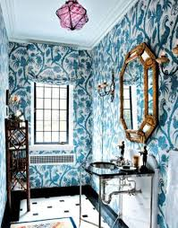 bathroom wall art blue wallpaper with matching window blind and ornate mirror decoration ideas and glass  on matching wall art pictures with bathroom wall art blue wallpaper with matching window blind and