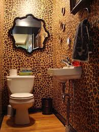 design ideas small spaces image details:  the fashionable animal print decor home designing bathroom ideas image of