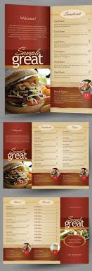 Take Out Menu Template Restaurant Cafe Take Out Menu Template On Behance