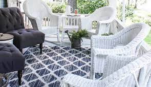 how to paint wicker furniture for a