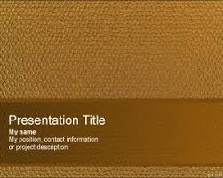 Free Leather Templates Leather Powerpoint Template