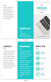 Trifold Template Technology Tri Fold Brochure Template