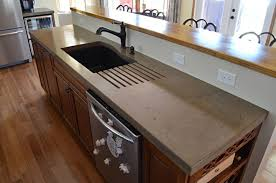 a primer on concrete countertops pour in place concrete countertops epic wood countertops