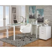 Baraga L Desk White Signature Design by Ashley Tar