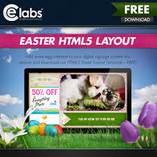 Free Signage Template Free Digital Signage Content Easter Html5 Layout Template