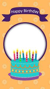 birthday frame with cake