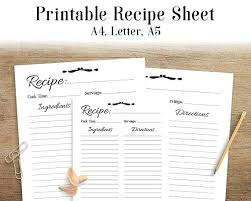 Recipe Blank Template Protect Your Recipe Cards With Sleeves Blank Template Excel
