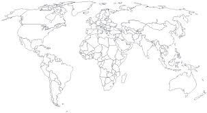 Maps Of The World Black And White And Travel Information Download