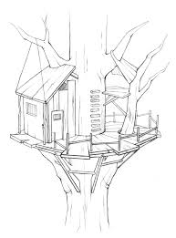 Small Picture Tree House 6 Buildings and Architecture Printable coloring pages
