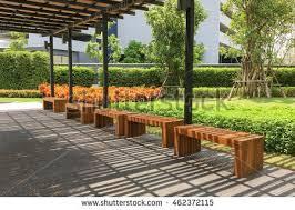 zen garden furniture. outdoor nature wooden bench in zen garden style furniture