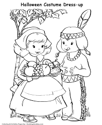 halloween costumes coloring pages halloween costume coloring pages pilgrim girl costume coloring