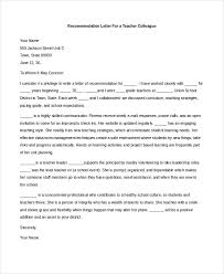 Recommendation Letter For Colleague Recommendation Letter For Colleague Teacher Magdalene