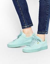 puma shoes for ladies 2017. 2016 women shoes puma basket suede classic mint green trainers khbxk75102084 | fantastic savings,timeless for ladies 2017