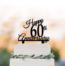 hapy 60th anniversary cake topper birthday cake topper rustic cake topper anniversary gift custom age cake topper