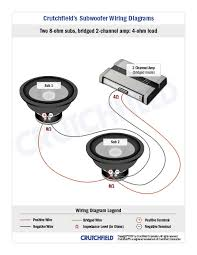 subwoofer wiring diagrams 2 svc 8 ohm 2ch