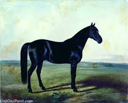famous horse painting the black horse