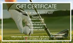 Gift Certificate Template Golf Golf Gift Certificate Templates Easy To Use Gift Nurul Amal