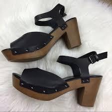 torrid platform chunky wooden heels