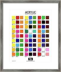Acrylic Paint Mixing Chart Acrylic Color Mixing Chart