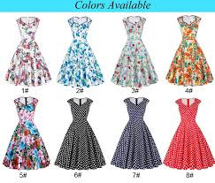 Retro Dress Patterns Mesmerizing Grace Karin Cotton Vneck Vintage Flower Print Pattern 48s Dress